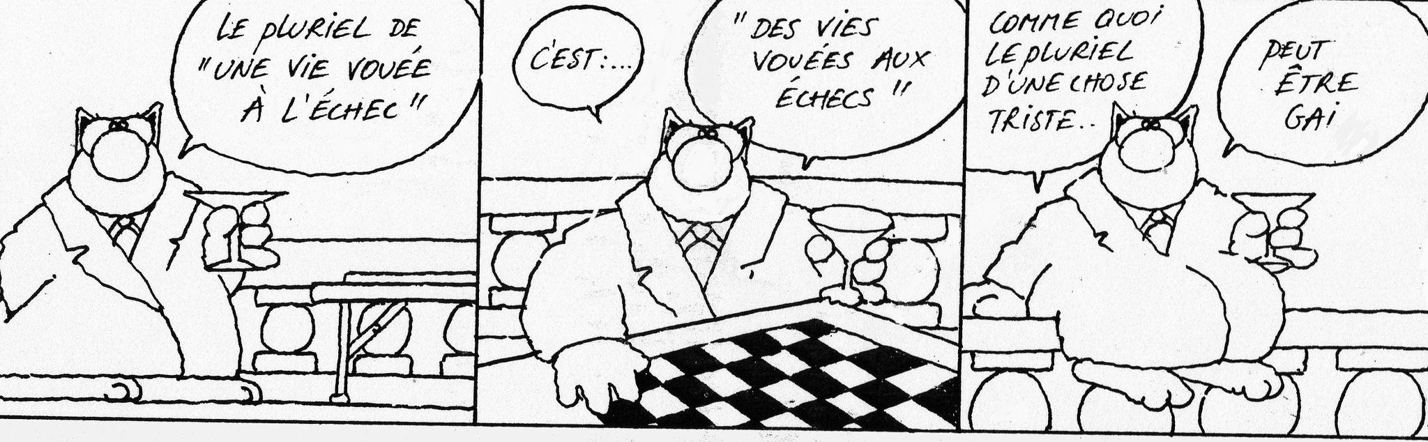 La pratique du jeu d'échecs est-elle vraiment bénéfique ? Geluck_echecs